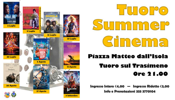 Parte la stagione del Tuoro Summer Cinema